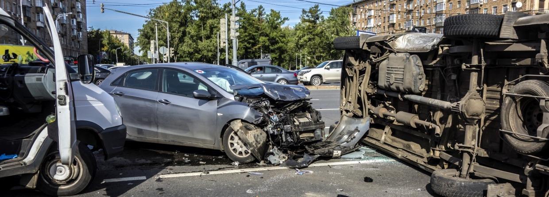Ongeval met meerdere auto's